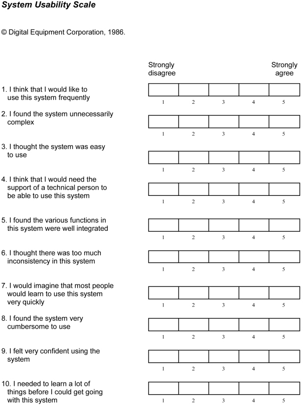 SUS - A quick and dirty usability scale